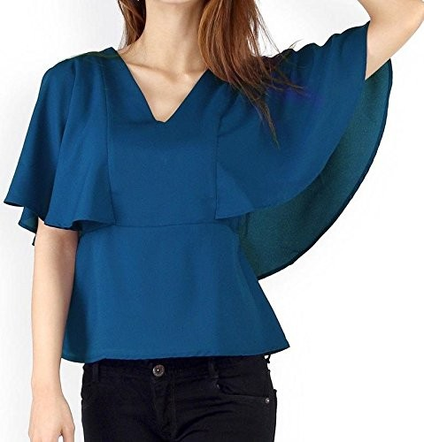 CLASSICS Blue Pleated Sleeveless Blouse