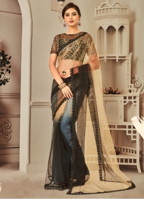 black-colour-party-wear-trendy-saree