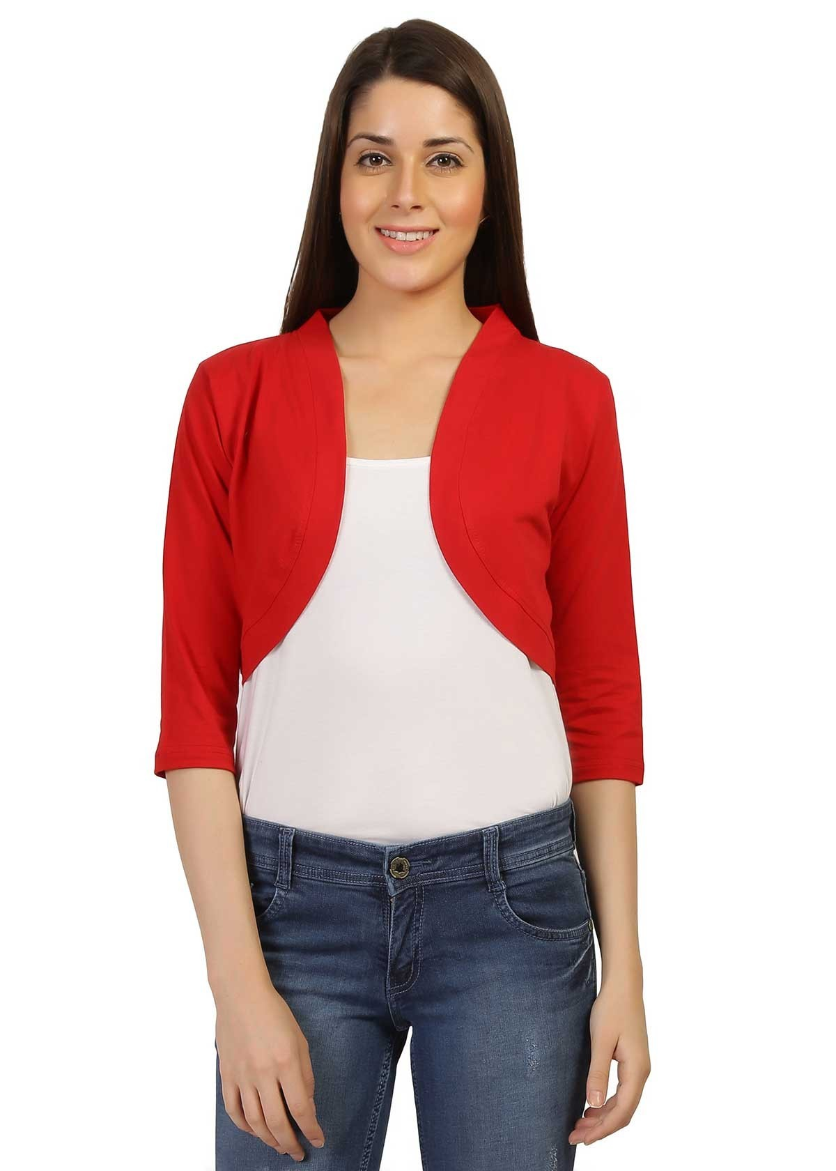 red regular shrug