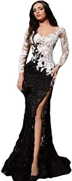 solid net flared gown